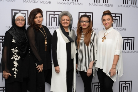 Nighat Misbah, Hafsa Haseeb, Masaarat Misbah, Hani and Redah Misbah at Masarrat Misbah Makeup's 1st Anniversary Lunch (1024x683).jpg
